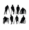 disabled people silhouettes vector image vector image