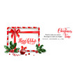 elegant banner with ribbon vector image vector image