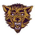 emblem logo tattoo head a wolf vector image vector image