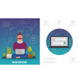 flat e-learning infographic template vector image vector image
