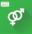 gender sign icon business concept men and women vector image