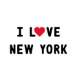 I lOVE NEW YORK2 vector image