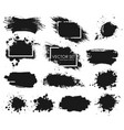 ink spots set collection in black and vector image vector image