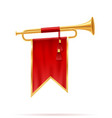 king royal golden horn vector image vector image