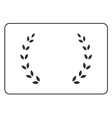 Laurel wreath icon border 15 vector image