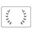 Laurel wreath icon border 15 vector image vector image