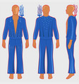 man silhouette in fantastic costume vector image vector image