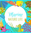 marine life frame it s summer vector image