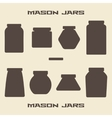 Mason jars silhouette icons set vector image vector image