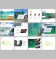 minimal brochure template with unique fresh vector image vector image