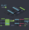 mobile flat ui design template vector image vector image