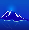 mountain blue landscape background vector image
