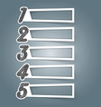 number 3d digital infographic vector image vector image