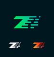 number 7 modern speed shapes logo design vector image vector image