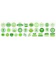 organic natural bio labels set icon healthy foods vector image