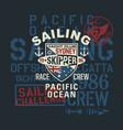 pacific ocean regatta sailing challenge vector image vector image
