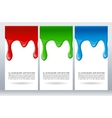 Paint dripping on white card vector image