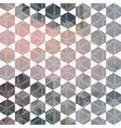pattern geometric hexagon with triangles vector image vector image
