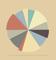 Pie chart for documents and reports vector image vector image