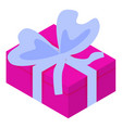 pink gift box icon isometric style vector image vector image