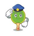police ping pong racket character cartoon vector image vector image