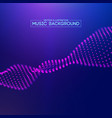 purple music background abstract background blue vector image