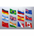 realistic waving flags vector image