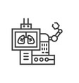 robotic surgery line icon vector image vector image