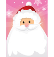 santa claus and blank sign vector image vector image