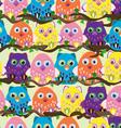 seamless owl vector image