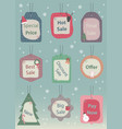 set christmas sale tags and labels vector image