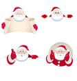 set funny santa claus vector image