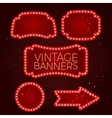 Shining retro banner with lights vector image vector image