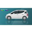 small compact electric vehicle or hybrid car on vector image vector image