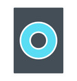 speaker icon sound audio music sign vector image