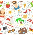 Summer and vacation background vector image vector image