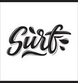 surf lettering logo in graffiti style isolated on vector image