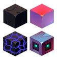 Textures for Platformers Icons Sample Set vector image vector image