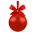 The ball of red color with a bow vector image vector image