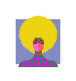 trendy blonde woman wearing stylish surgical mask vector image