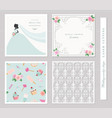 wedding templates set elegant cutout envelope vector image vector image