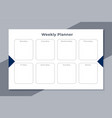 weekly planner to do list template design vector image