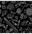 hand drawn pasta pattern vector image