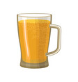 beer mug isolated pot alcohol foam drink vector image