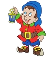 Gnome with a lantern vector image