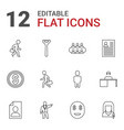 12 businessman icons vector image vector image