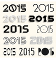 2015 for design vector image vector image