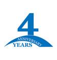 4 years anniversary flat simple design