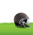 American Football Helmet Sitting in the Grass vector image vector image
