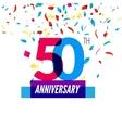 Anniversary design 50th icon anniversary vector image